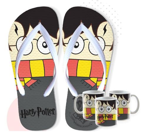 Chinelo Harry Potter Com Caneca De Brinde Postagem Em 24hs