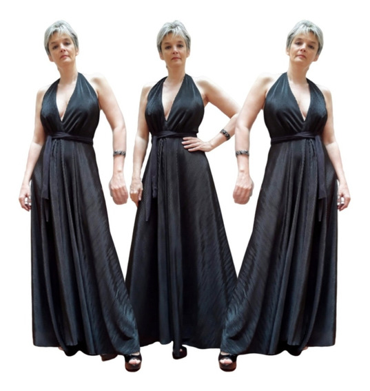 Vestido De Fiesta Largo Elastizado Hasta 3xl
