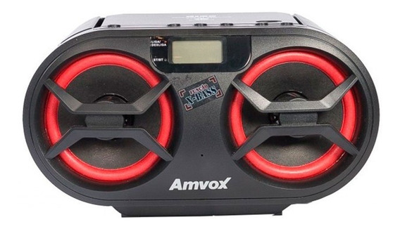 Radio Boombox Amvox Amc 595 New Cd Bluetooth Usb Fm Mp3