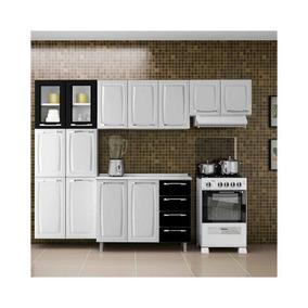 Cozinha Compacta Criativa 11 Portas Branco/preto(não Acompa
