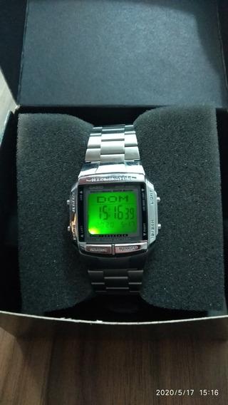 Relógio De Pulso Digital Aço Inox Casio Db 360