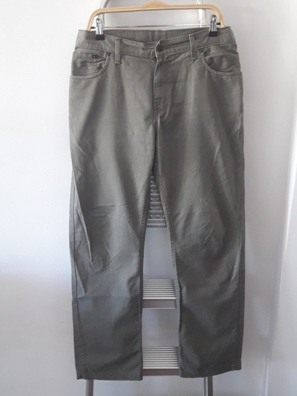 Jean Levis 505 Gabardina Verde Militar Cargo 32 Pantalón