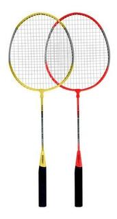 2 Raquetas Badminton Infantil + Pluma + Funda Set Kit Cuotas