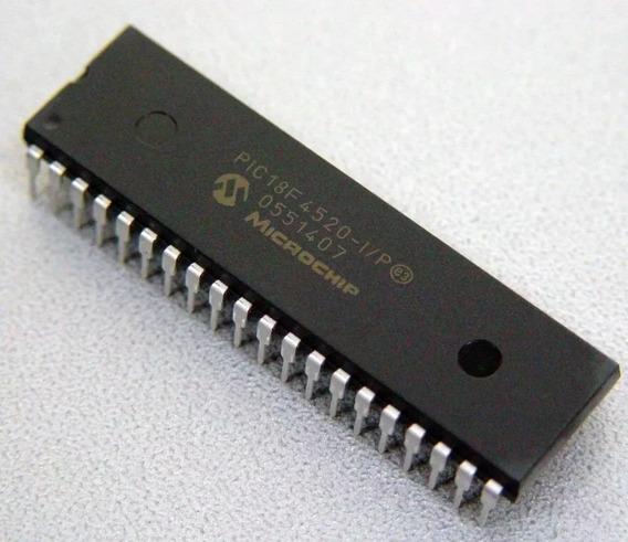 Microcontrolador Pic18f4520 Dip 40 Microchip