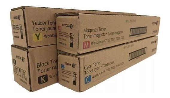 Kit De Toner Xerox 7120-7125-7220 ( K C Y M ) Original