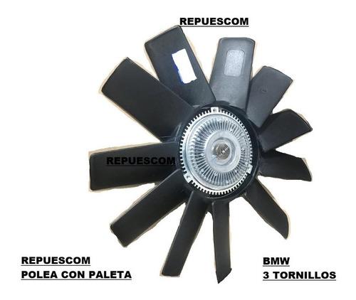 Polea Viscosa Con Paleta  Bmw   3 Agujeros - E34 - E39 - E46