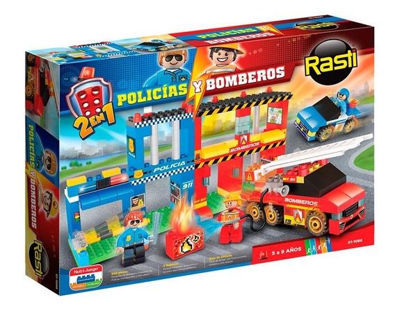 Bloques Policia-bombero 250 Piezas Original Rasti