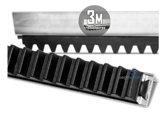 Kit 3m Cremalheira Barra Trilho Para Motor Eletrônico Portão