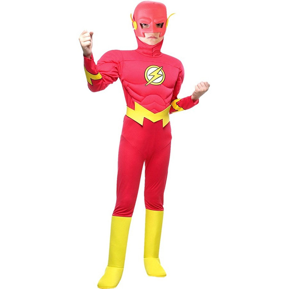 Disfraz Flash Con Musculos Liga De La Justicia Sulamericana
