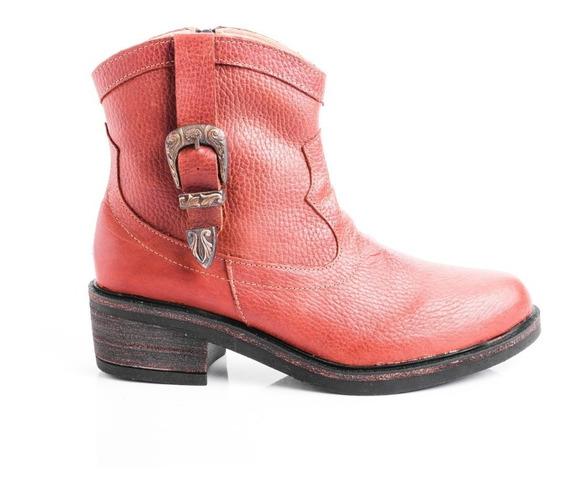 Botas Botitas Zapatos Mujer De Cuero Taco Madera Livianas