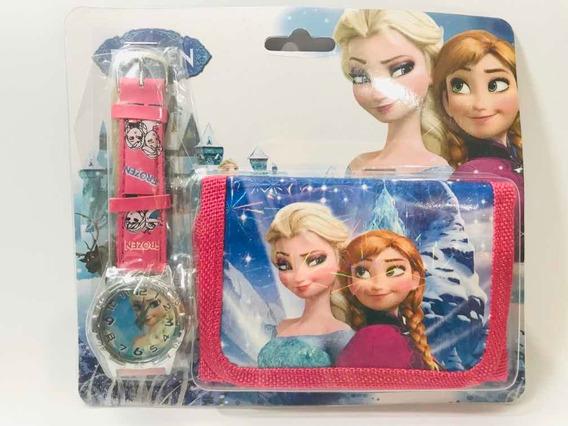 Relógio Com Carteira Frozen Infantil Produto Novo