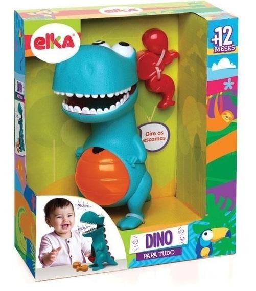Boneco Dinossauro Infantil Didático Dino Papa Tudo Elka