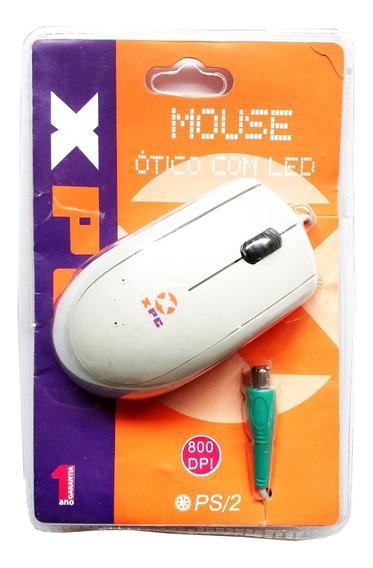 Mouse Óptico Xpc - Com Led Ps/2 - Branco