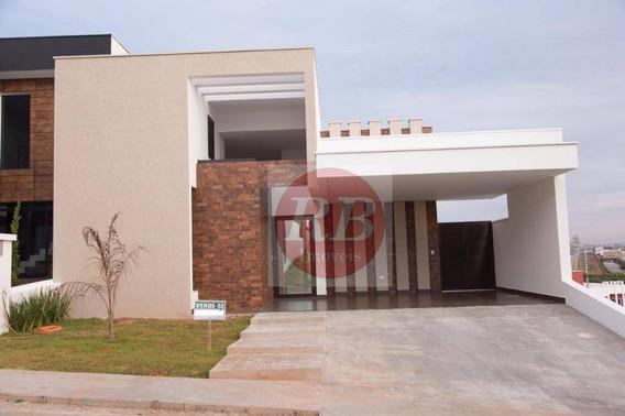 Casa Com 3 Dormitórios À Venda, 176 M² Por R$ 800.000 - Condomínio Ibiti Reserva - Sorocaba/sp - Ca0417