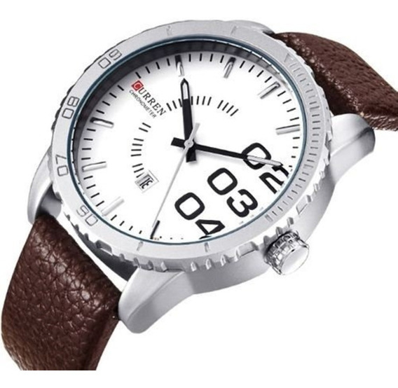 Relógio Masculino Curren Analógico 8125 Branco Leia Anúncio