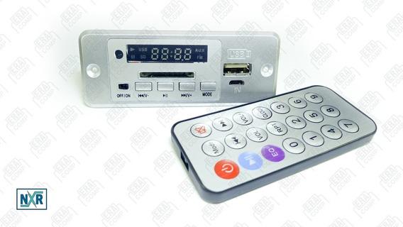 Placa Leitor De Usb/ Mp3 / Bluetooth Radio Fm + Controle