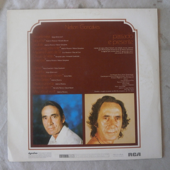Lp Nelson Gonçalves 1974 Passado E Presente, Disco De Vinil