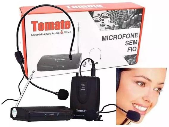 Microfone Lapela Sem Fio Wireless Headset Tomate Mt-2201