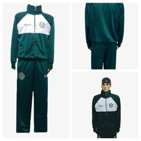 Conjunto Infantil Palmeiras Verde Jaqueta -calça Agasalho