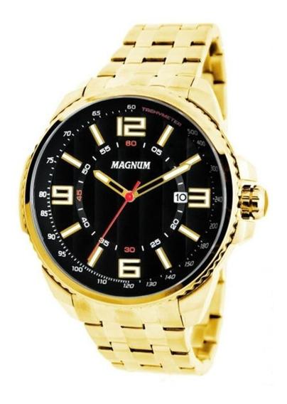 Relógio Magnum Masculino Dourado Ma32818