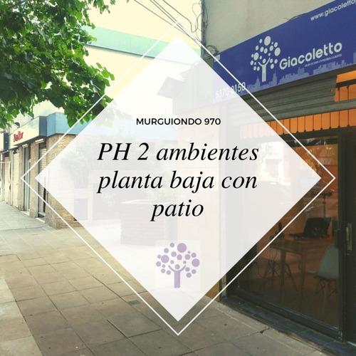 Ph 2 Ambientes Planta Baja Con Patio! Murguiondo Al 900 - Liniers