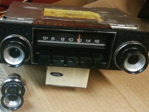 Radio Philco Ford Falcon Original Con Perillas Y Marco