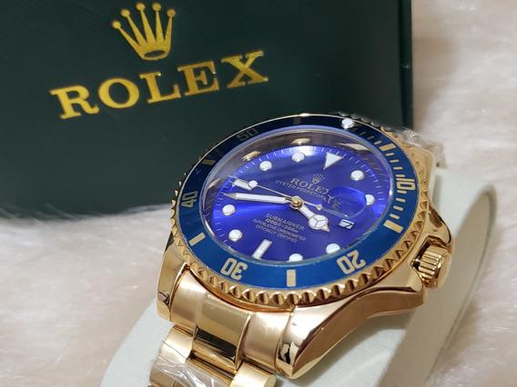 Relógio Submariner Masculino Dourado + Cores