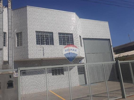 Galpão Para Alugar, 324 M² Por R$ 4.500,00/mês - Recreio Estoril - Atibaia/sp - Ga0199