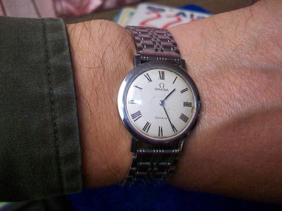 Antiguo Reloj Suizo Lentejuela, Omega Geneve A Cuerda.