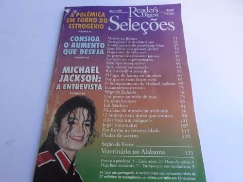 Revista Seleções Michael Jackson A Entrevista