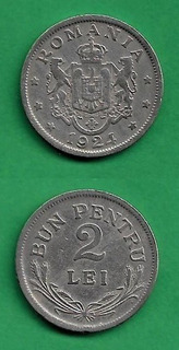 Grr-moneda De Rumania 2 Lei 1924