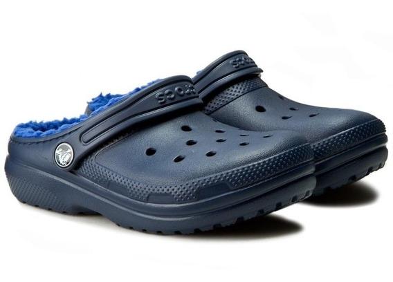 Crocs Classic Con Abrigo Lined Clog K Navy -cerulem Blue