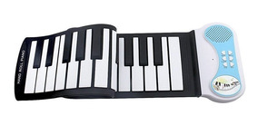 Teclado Musical Digital Flexível Silicone Midi Elêtronico