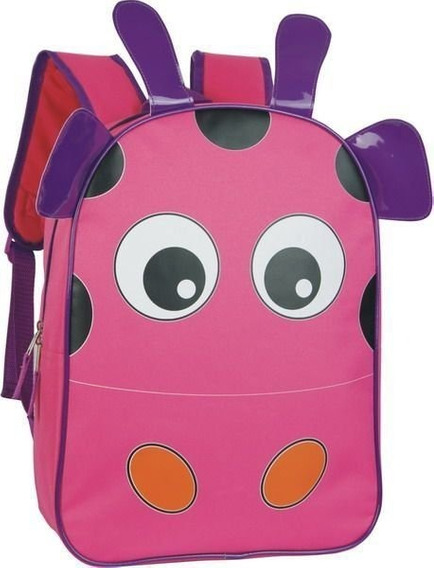 Mochila Costal Escolar Infantil Bichinhos Rosa Pink