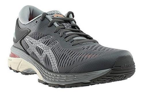 Asics Womens Gelkayano 25 Running Shoe Carbonmid Grey 95 Bm