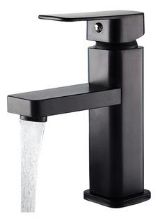 Llave Mezcladora Monomando Para Ovalin Lavabo De Baño Negro