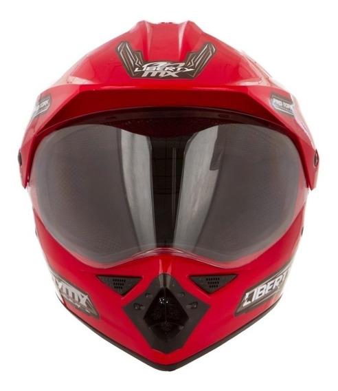 Capacete para moto Pro Tork Liberty MX Pro Vision vermelhoM