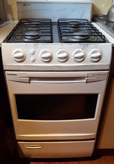 Cocina Siemens Meisterklasse A Gas Natural 4 Hornallas + Horno Con Luz + Parrilla / Excelente Estado Y Funcionamiento!