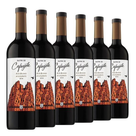 Vino Rutas Cafayate Elegante Red Blend Caja 6 Botellas 750ml
