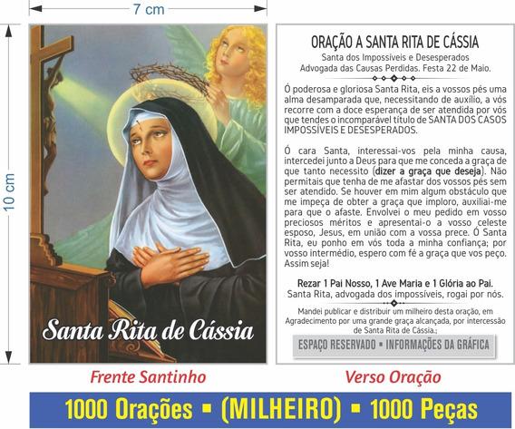 Santa Rita De Cassia (500 Santinhos Oração) Frete Grátis