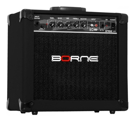 Amplificador Preto Borne Strike G70