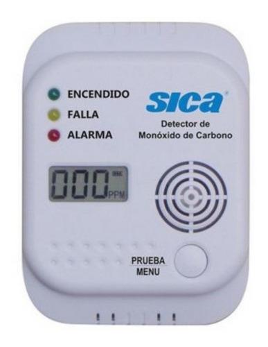 Detector Sensor De Monoxido De Carbono Con Alarma