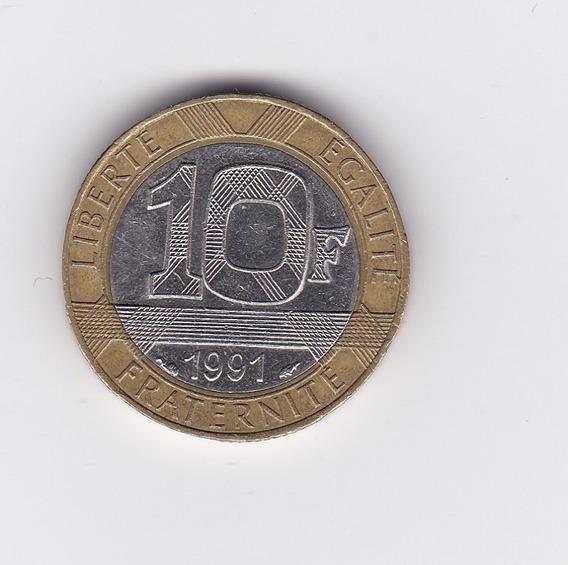 Ltc227. 10 Francos Franceses De 1991.