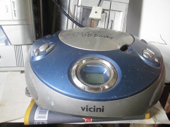 Radio Cd Player Vicini Vc-94 Funciona O Radio 60 Reais