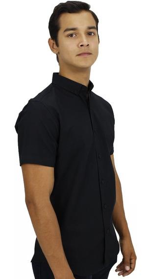 Camisa M/c Negro Premiere