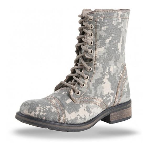 Botas Mujer Militares Tactica Botines Zapatos Dama 707 Sixka