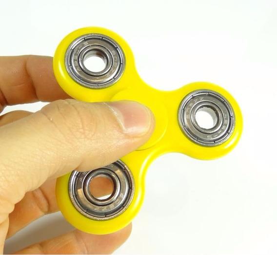 Fidget Hand Spinner Amarelo Pião Mão 3 Minutos Rolamento Fs1