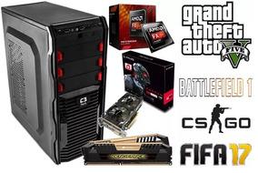 Cpu Pc Gamer Fx-8300 - Rx 560 - 8gb Ram- 500gb Hd