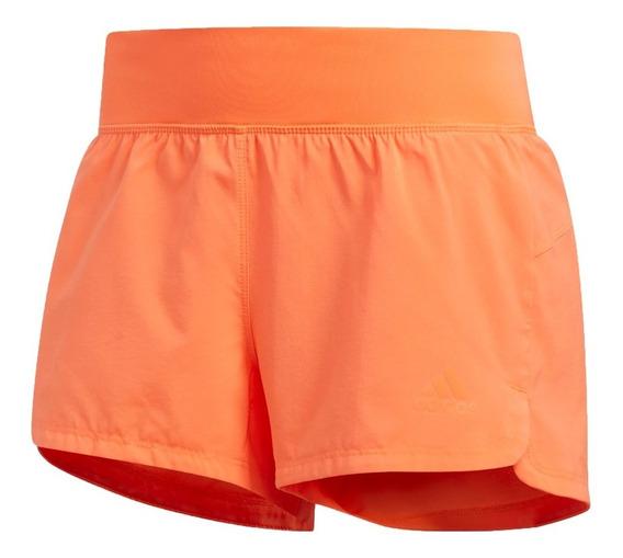 adidas Short Running Mujer 2 En 1 Naranja
