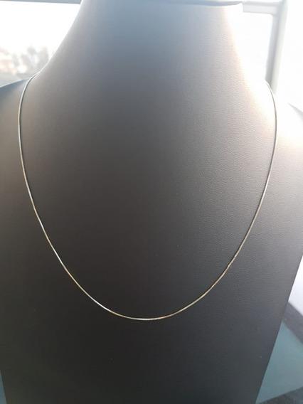 Corrente Veneziana Diamantada 45cm Folheada A Ouro 4458